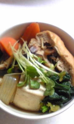 がんもと野菜のすき焼き風